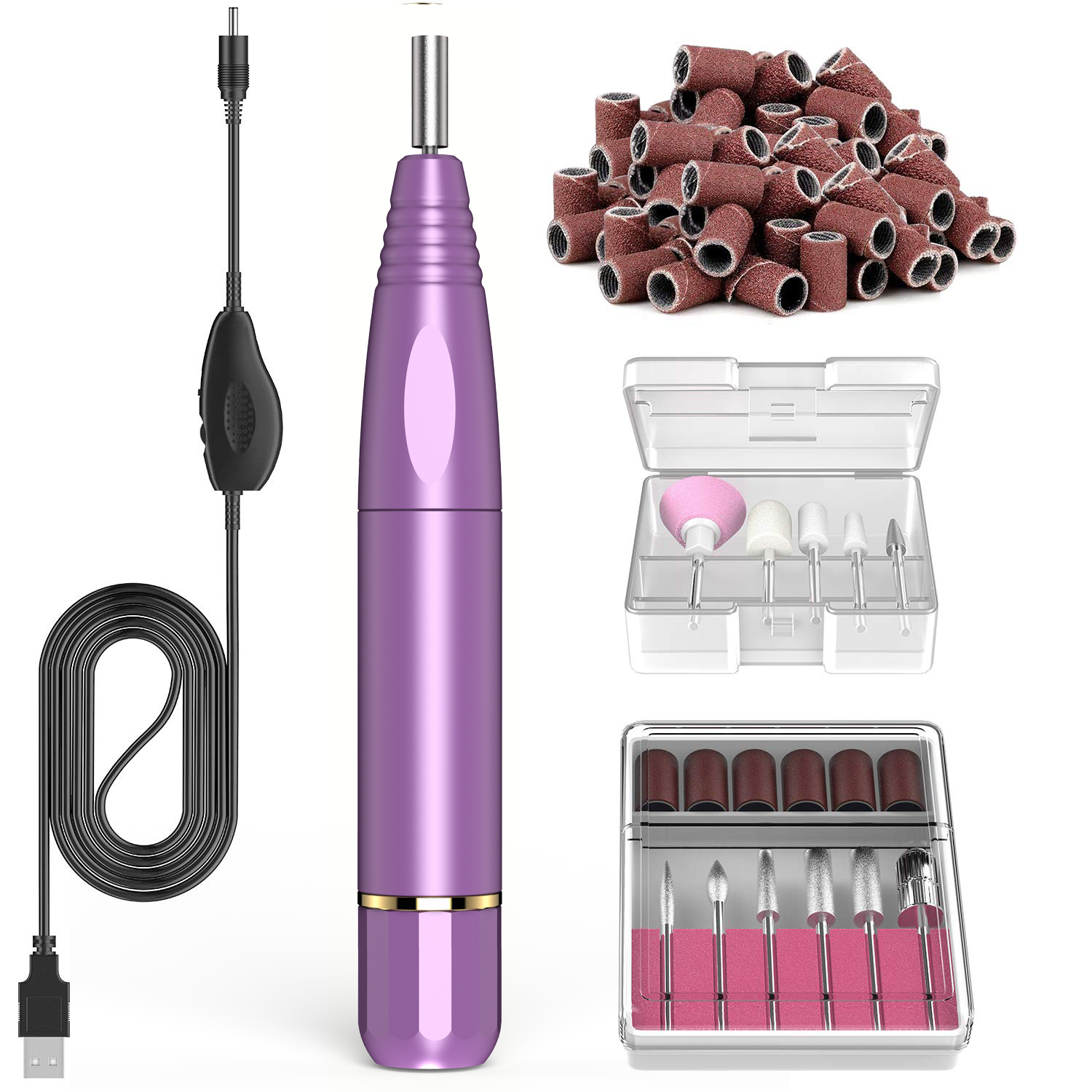 Electric nail drill manicure pedicure set
